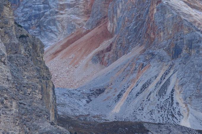 Erodierter Berghang