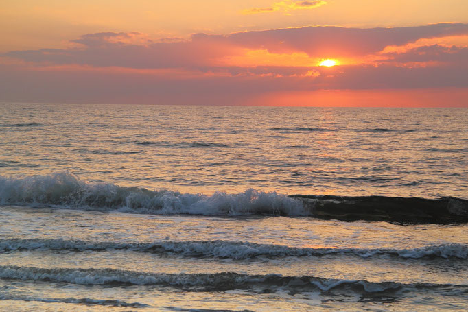 Sonnenuntergang am Darßer Ort