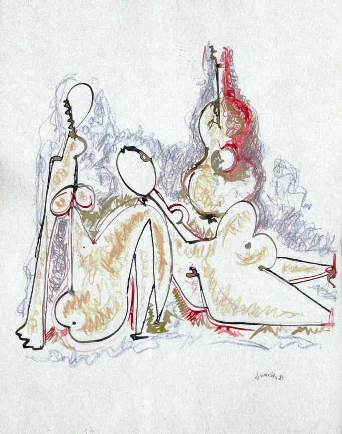 Musica (1981 - China su pergamena - 35x45)