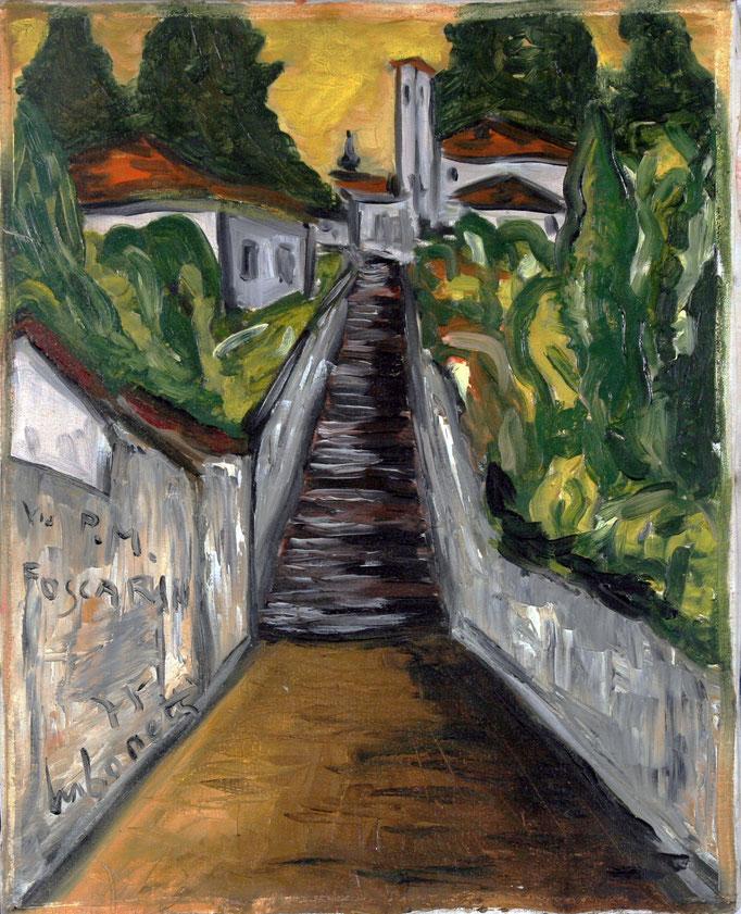Via Foscarini (1975 - Olio su tela - 40x50)  Collezione Privata – Varese