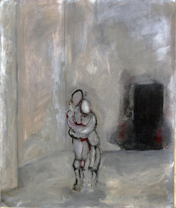 Interno con Figure (1980 - Olio su tela - 50x60)