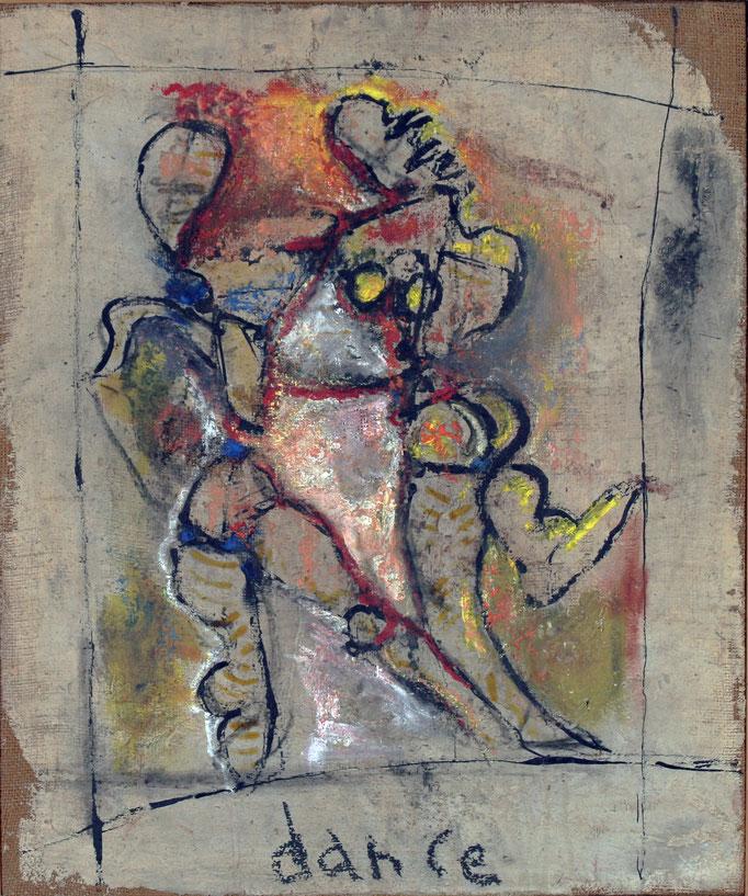 Dance (1980 - Tecnica mista su legno - 50x60)