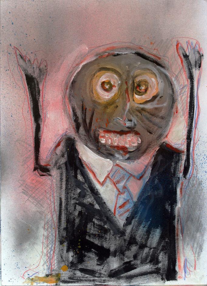 Metamorfosi (2016 - Olio su carta - 36x50)