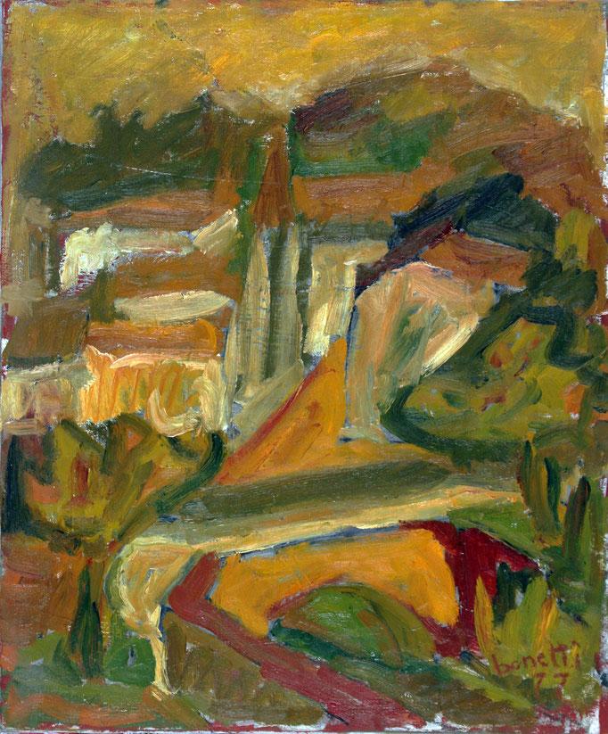 Ricordi (1977 - Olio su tela - 50x60)  Collezione Privata - Varese