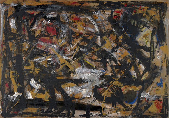 Giallo (2008 - Acrilico su masonite - 77x96)  Collezione Privata – Milano