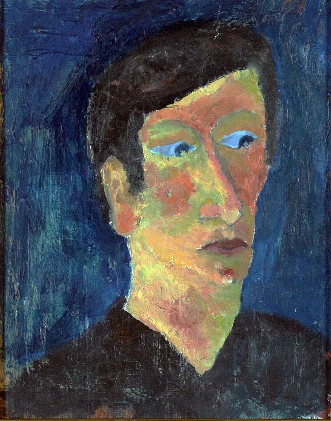 Autoritratto (1981 - Olio su legno - 30x23)  Collezione Privata – Milano