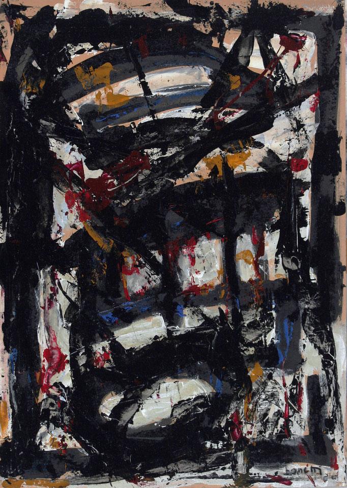 Composizione (2009 - Acrilico su cartone - 51,5x72)