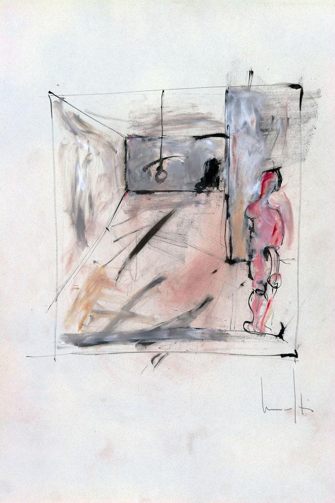 Interno (1980 - Tecnica mista - 35x50)