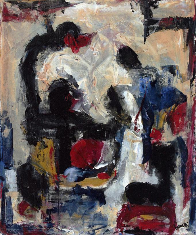 Senza Titolo (2006 - Acrilico su tela - 50x60) Collezione Privata – Milano