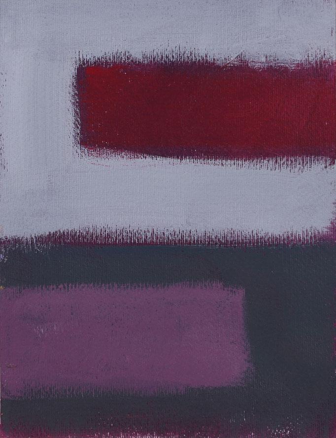 Finestra sul tempo (2019 - Smalto su tela - 27,7x21,2)