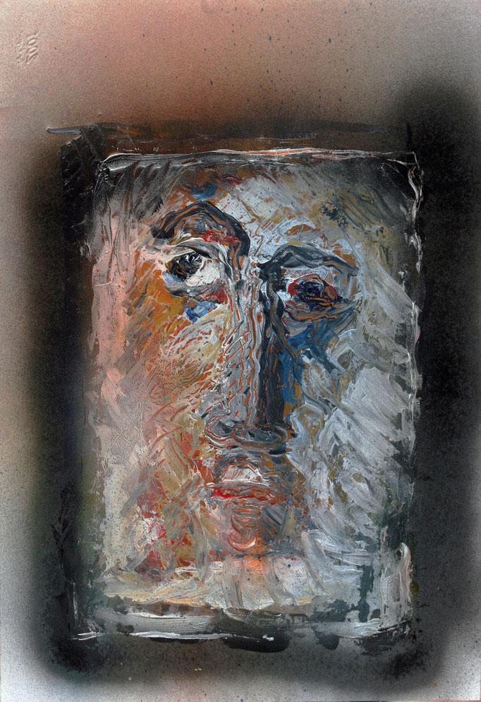 Volto (2016 - Acrilico su carta - 33x48)