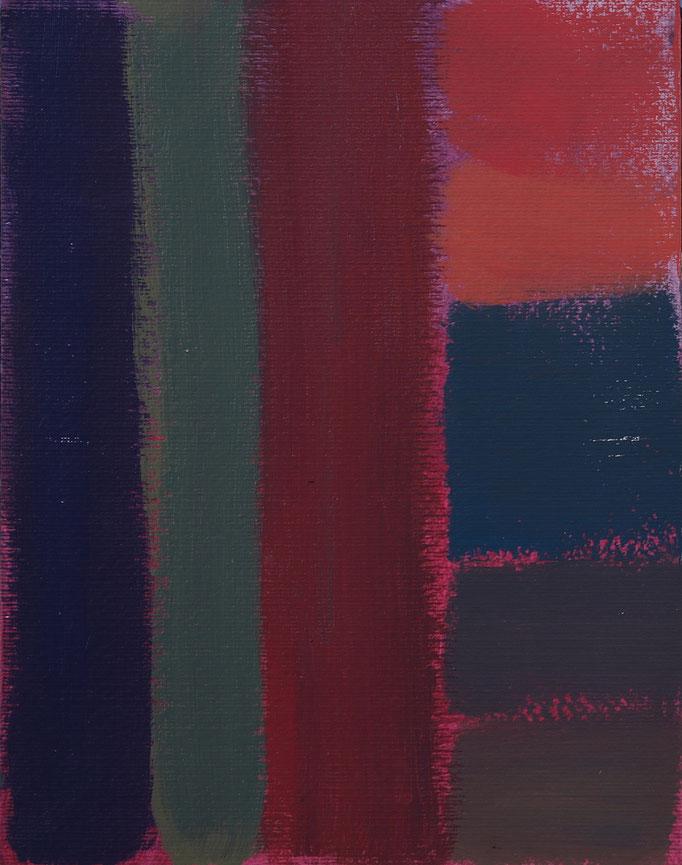 Finestra sul tempo (2019 - Smalto su tela - 80x100)