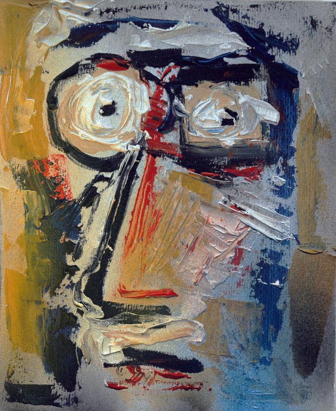 Volto (2016 - Olio su carta - 20x24,5)