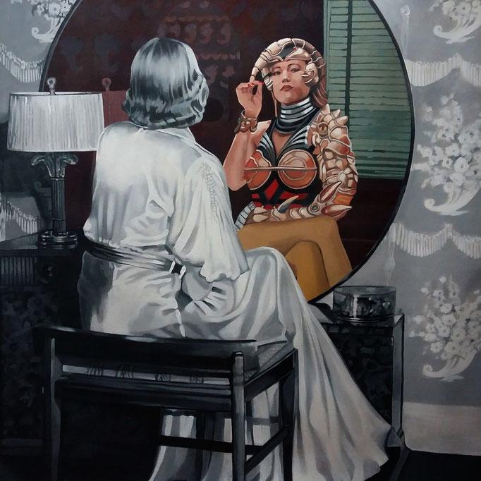 Oltre lo specchio 1 - cm 80x80 - (disponibile)