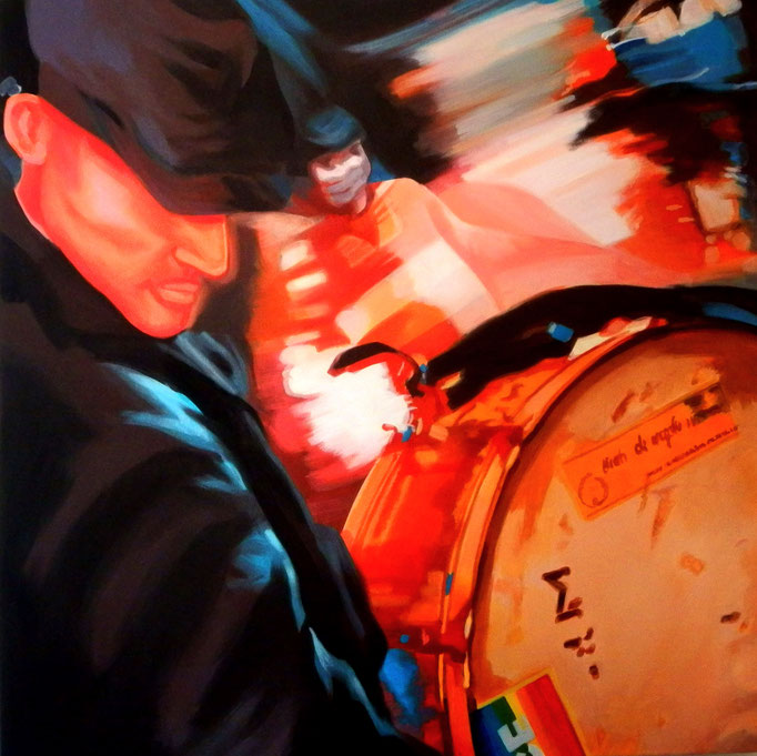 The Bass Drum - cm 60x60 - (sold)