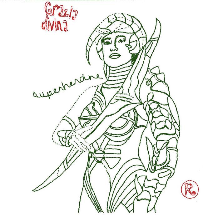 Grazia Divina - cm 80x80 - (disponibile)