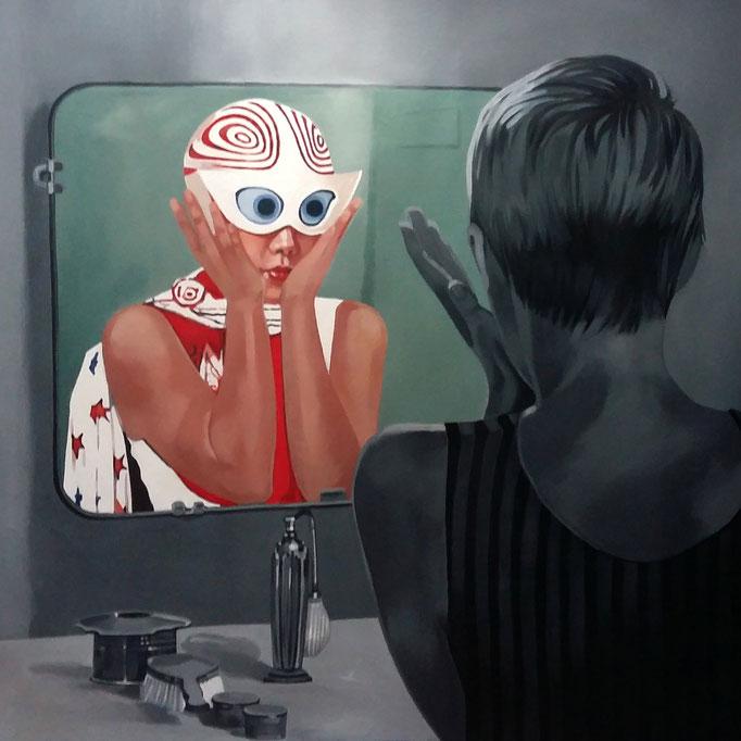 Oltre lo specchio 7 - cm 80x80 - (disponibile)