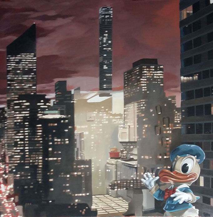 Reflections on Manhattan - cm 90x90 - (disponibile)