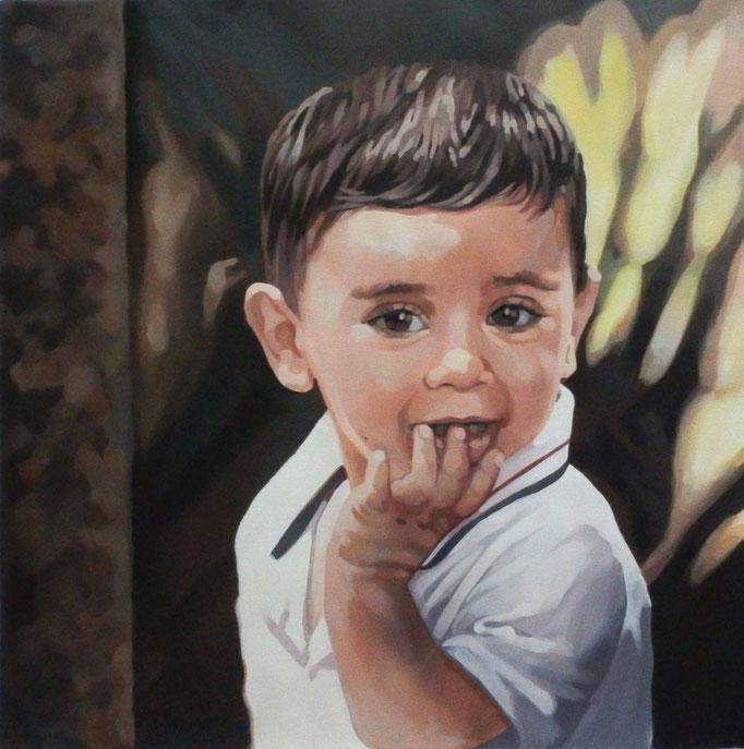 Il nipote - cm 50x50 - (venduto)