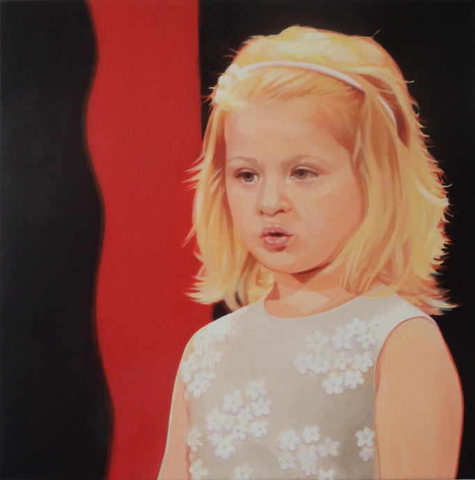 The little girl - cm 40x40 - (sold)