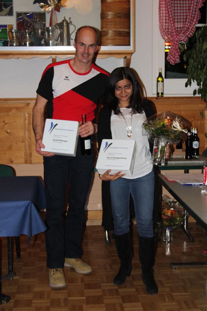 Seit 15 Jahren sind sie Leiter bzw. Leiterin: Ruedi Wenger und Varna Ringgenberg.