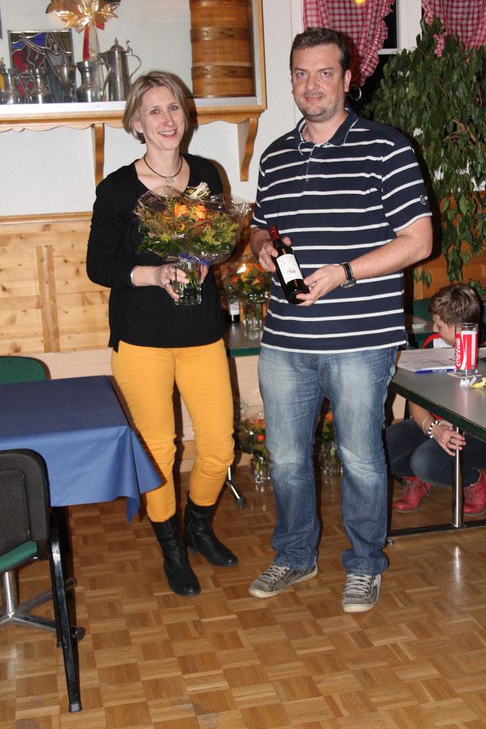 Ihre Leitertätigkeit wurde auch verdankt: Sandra Schepky und Franck Jauzion,