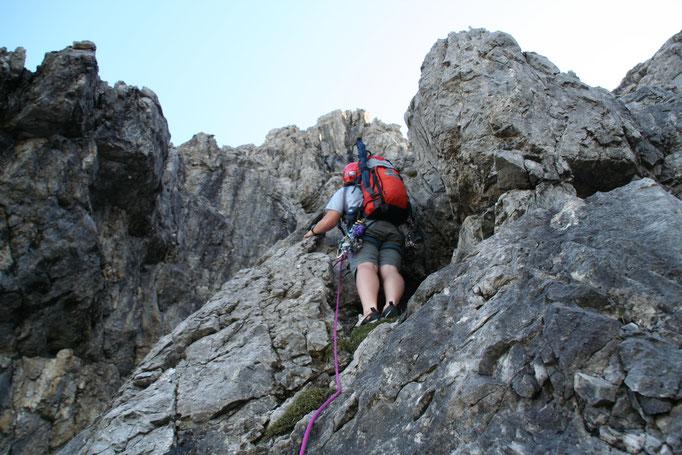 Alpinkletterkurs Allgäu, Alpinklettern Allgäu, Kletterrouten Allgäu