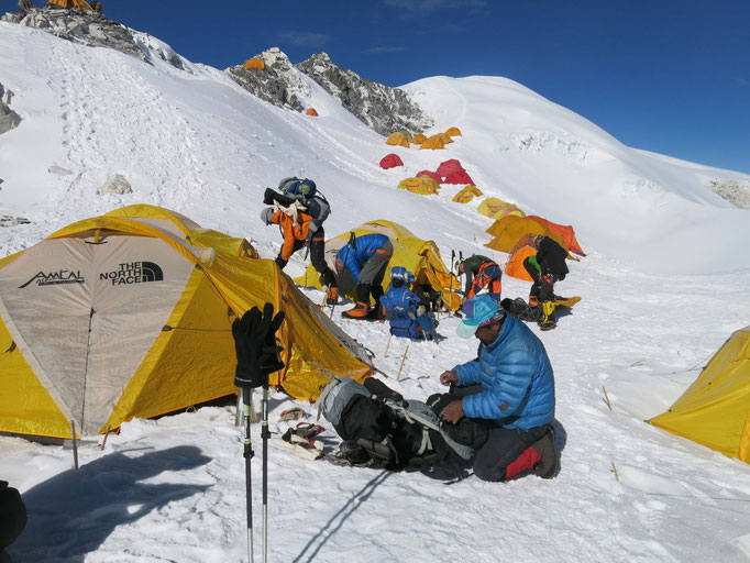 cho oyu 2021, Akklimatisationswanderung, cho oyu expedition