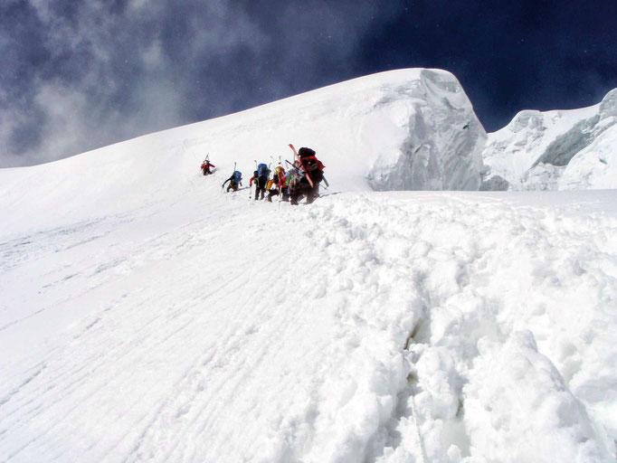 Himalaya Berge Karte.Nepal Manaslu Expedition 8 136 M Die Bergschule
