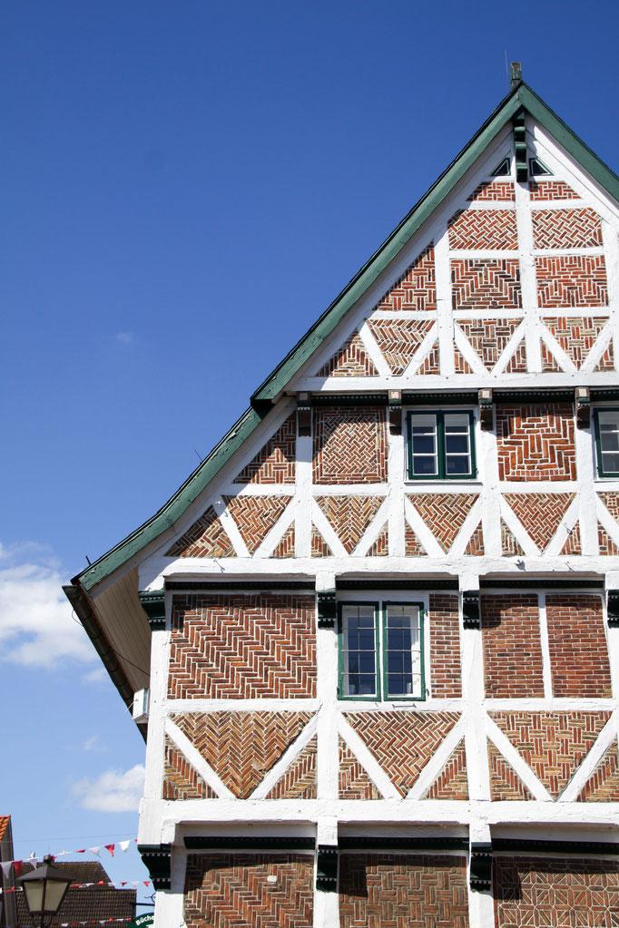 Detailansicht vom Rathaus in Jork