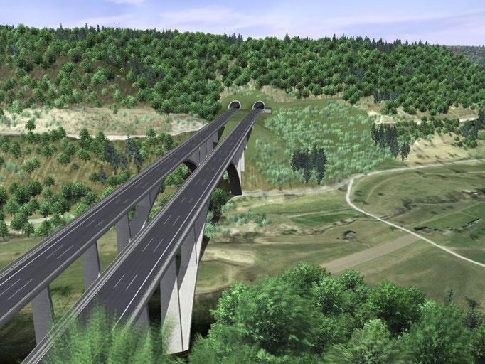 Visualisierung Gosbachtalbrücke