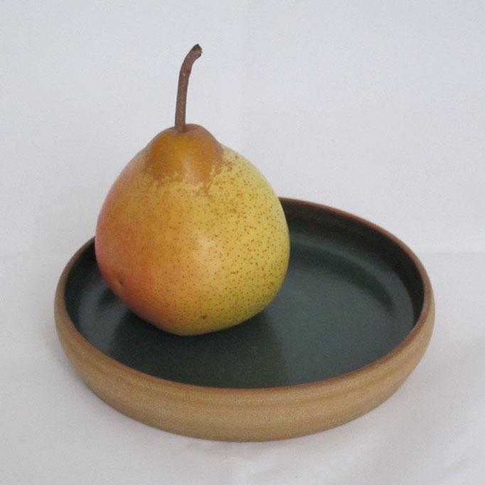 Assiette plate en grès petit modèle