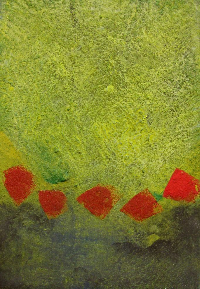 赫のかけら SM 岩絵の具 2009