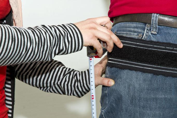 Messung der Sensorhöhe am Körper