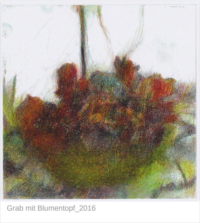 """""""Grab mit Blumentopf"""" aus der Serie """"Abschied"""""""
