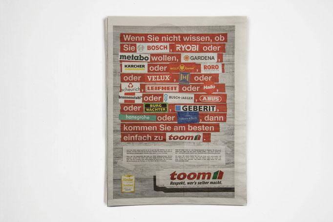 toom Leistungskampagne   Agentur: Scholz & Friends.
