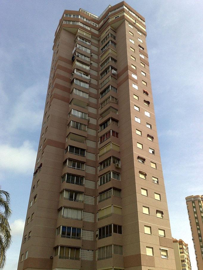 Rehabilitación de Fachadas Edificio Torre Galeno - Benidorm