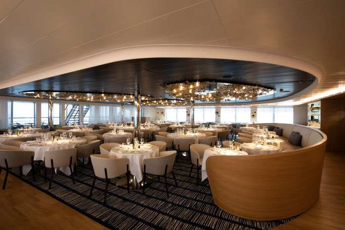Le Lapérouse Schiff PONANT Restaurant Bar Lounge