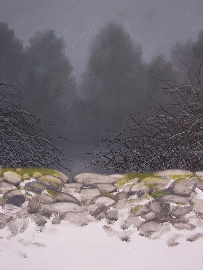 Régénérescence - Huile sur médium - 41,5 x 29,5 cm - 2017 - Didier Goguilly