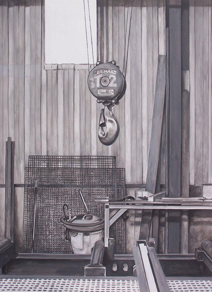 Atelier Cance - acrylique sur médium - 100 x 73 cm - 2017 - Didier Goguilly