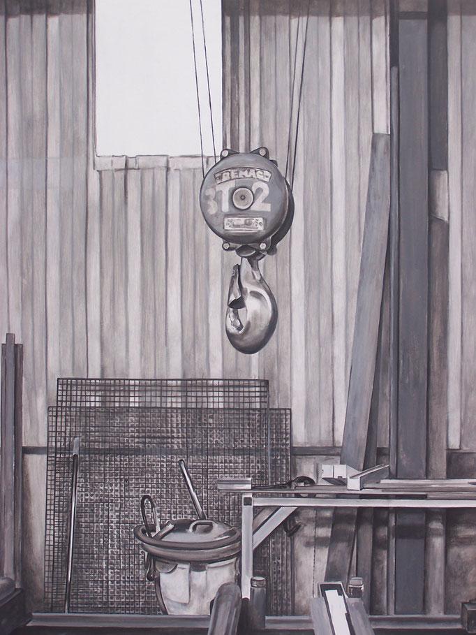 Atelier Cance - acrylique sur médium - 100 x 73 cm - 2017 ( Détail ) - Didier Goguilly