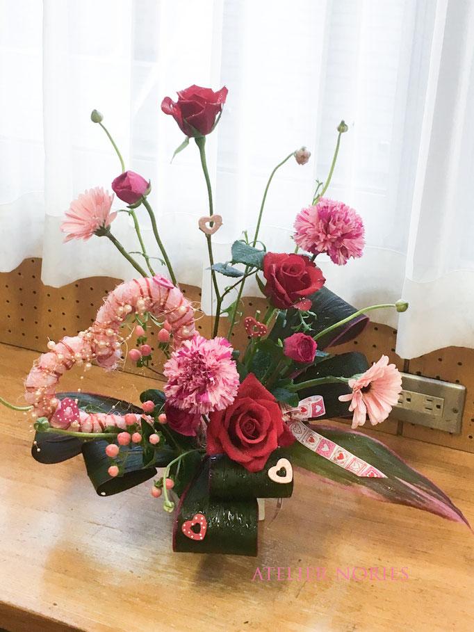 フレッシュフラワークラス バレンタインのデザイン Valentines-day