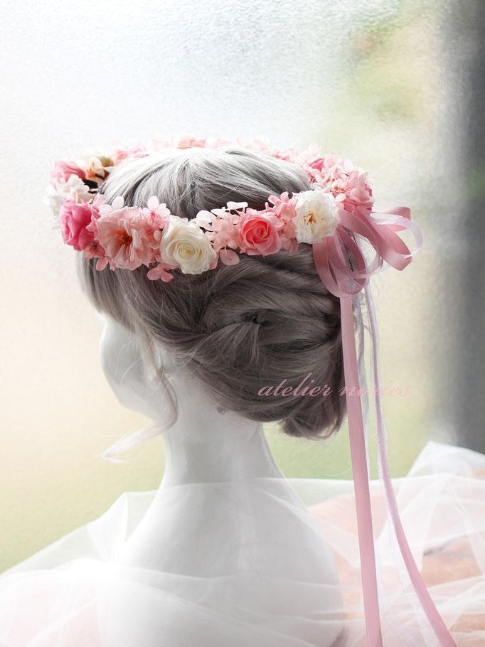 バレリー Valerie プリザーブドフラワーのおそろいの花かんむり
