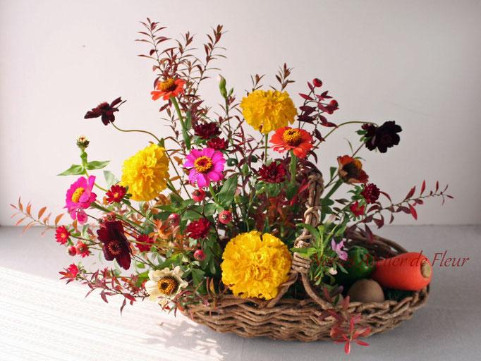 フレッシュフラワークラス 野菜と花