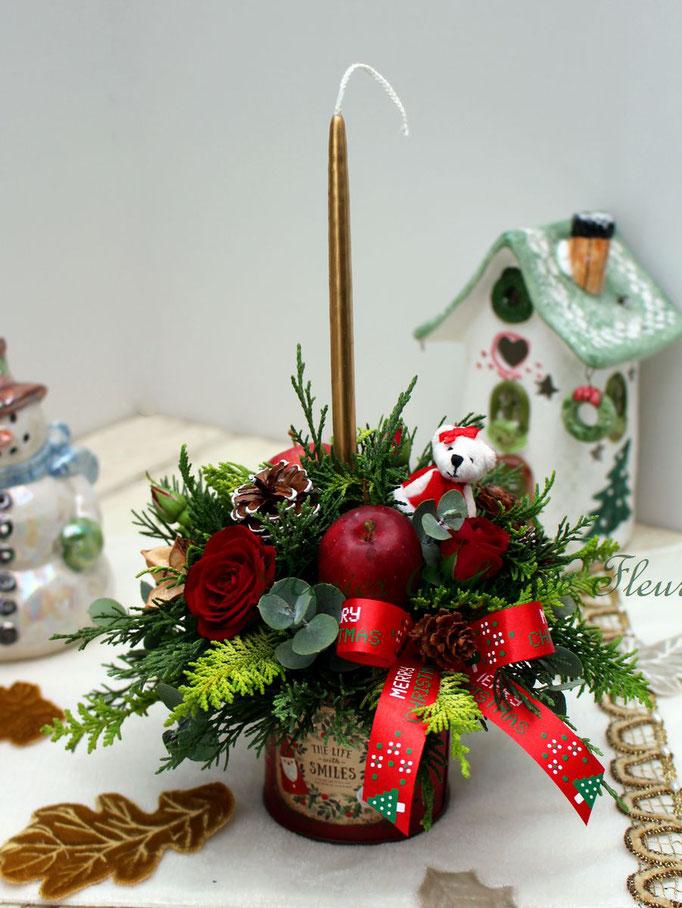 クリスマスキャンドルアレンジメント