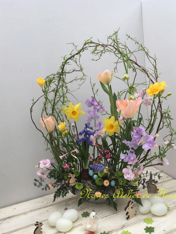 フレッシュフラワークラス イースターのデザイン  Easter