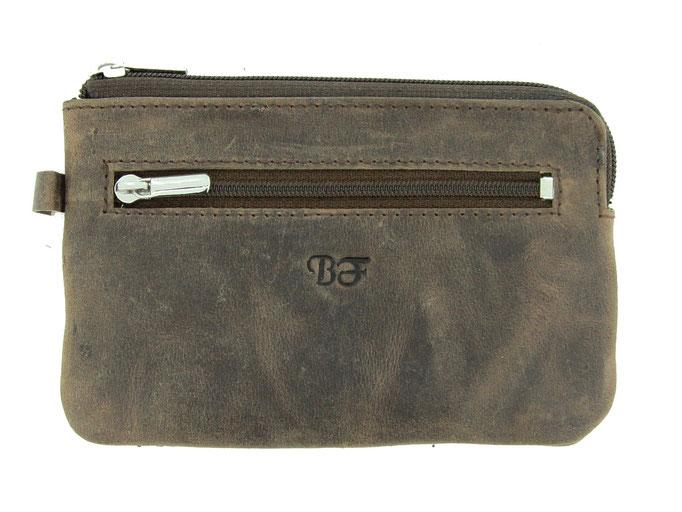 Schlüsseletui mit Reisverschluss - BF Nr.5109 Braun