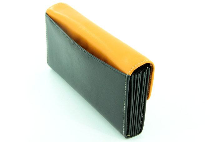 Serviceportemonnaie Schwarz-Orange c