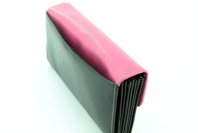 Serviceportemonnaie Schwarz-Pink c