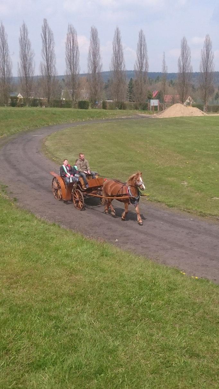 Einfahrt des Schützenkönig zum Vereinsfest in Dorfhain 2016